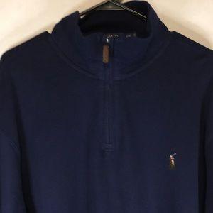 Polo Ralph Lauren Quarter Zip Pullover Sz XXL